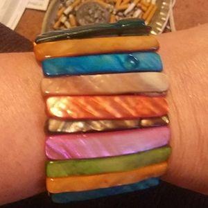 🌛 Amazing multicolored Abalone Bracelet